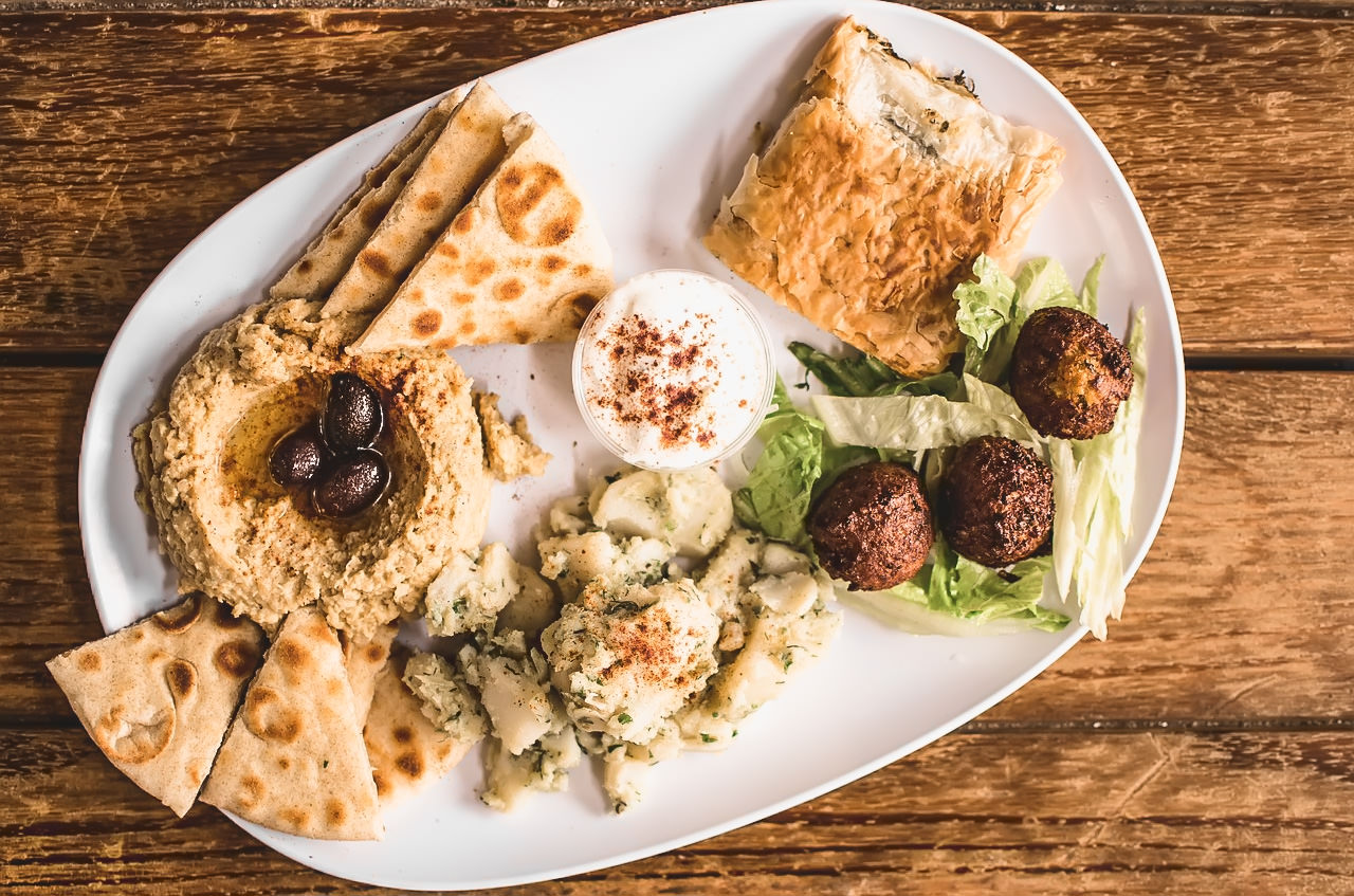 Greek Appetizers on a plate