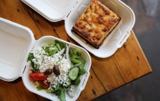 ELA! Greek Mousaka with Greek salad